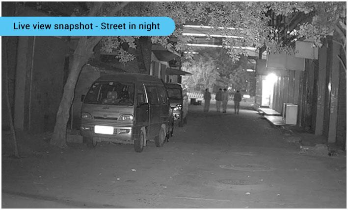 4 inch ptz - street in night